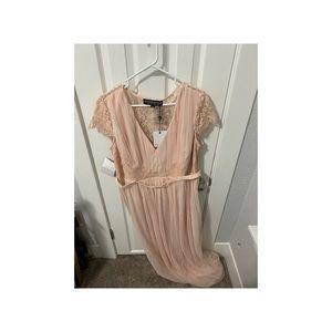 Full length tulle evening dress